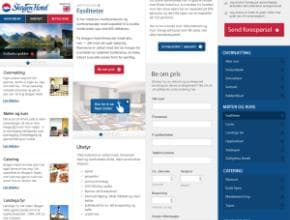 Skagen Hotel Website on Mobile