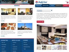 Skagen Hotel Website on Tablet